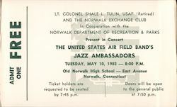 United States Air Field Band's Jazz Ambassadors - Admit One