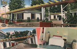 Bungalow Motel of Hollywood Postcard