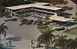 Hi Seas Motel and Apartments Postcard