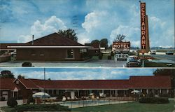 Town & Country Motel and Restaurant Postcard