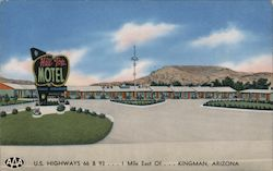 The New Hill Top Motel U.S. Highways 66 & 93 Postcard