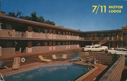 7/11 Motor Lodge Postcard