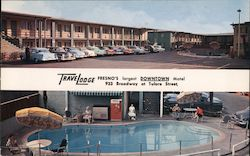 TraveLodge-Fresno's largest downtown motel 933 Broadway at Tulare Street Postcard