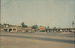 Morral's Motor Lodge - Cities Service Gas Station Postcard