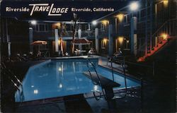 Riverside TraveLodge Postcard