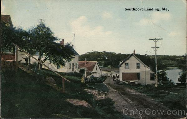 Street Scene Southport Maine
