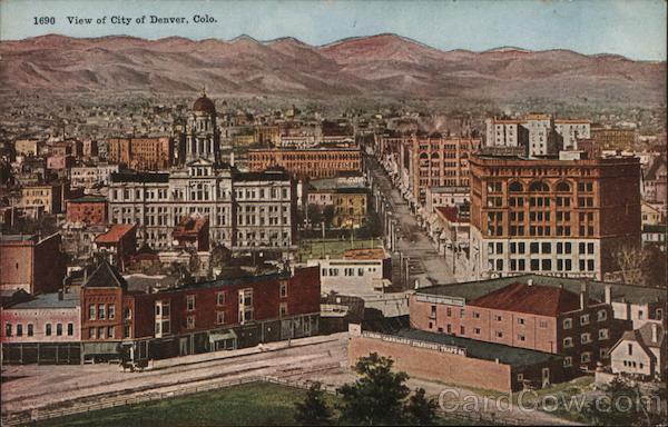 Bird's Eye View of Denver Colorado