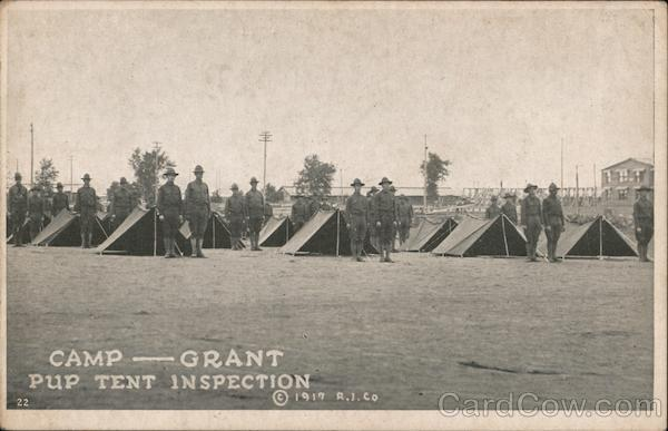 Camp Grant Pup Tent Inspection Military