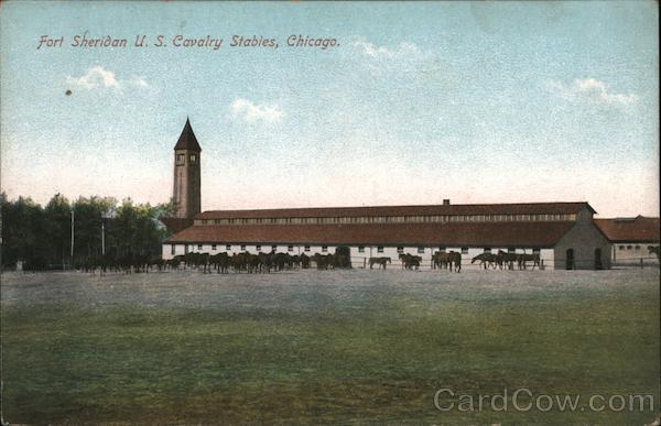 Fort Sheridan U.S. Cavalry Stables Chicago Illinois