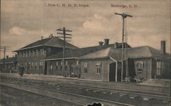 New Depot Chicago, Milwaukee and Saint Paul Railroad Postcard
