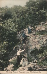 Climbing Pinnacle Mountain Postcard