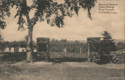 Memorial Gates at Oldest Killingly Burial Grounds Postcard