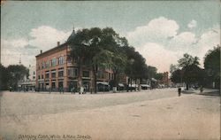 White & Main Streets Postcard