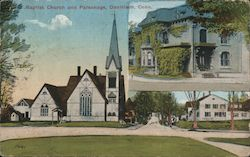 Baptist Church and Parsonage Postcard