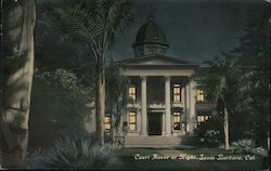 Court House at Night Postcard