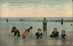 How the Children Enjoy Themselves at Asbury Park Postcard