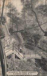 Stairway to Point Lookout Postcard
