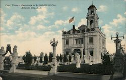 Capt. Young's Residence on $1,000,000,000 Pier Postcard