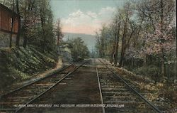 Mt. Penn Gravity Railroad and Neversink Mountain in Distance