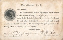 Enrollment card for baby On Cradle Roll Postcard
