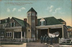 U.S. Life Saving Station, Pacific & Learning Ave. Postcard
