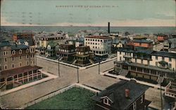 Birdseye View of Town Postcard