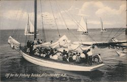 Off for the fishing banks Postcard