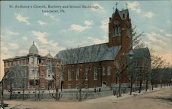 St. Anthony's Church, Rectory and School Buildings Postcard