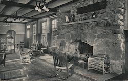 East Room Fireplace Postcard