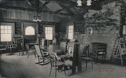Greenleaf Library. Buck Hill Falls Postcard