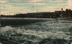 View of Genesee River Dam at High Water