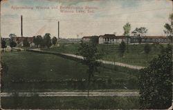 Approaching Winona and Pennsylvania Station Postcard
