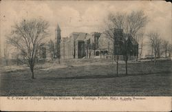 N.E. View of College Buildings, Williams Woods College Postcard
