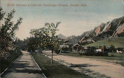 Entrance to Colorado Chautauqua Grounds Postcard