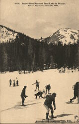 Snow Show Race on Fern Lake in Winter Postcard