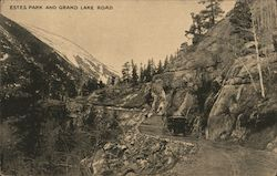 Estes park and Grand Lake Road Postcard