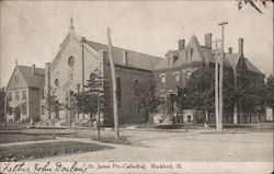 St. James Pro-Cathedral Rockford, IL Postcard