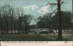 Old Stone Bridge, Government Island Postcard