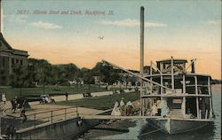 Illinois Boat and Dock Rockford, IL Postcard