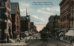 Water Street, South from E. North Street Postcard