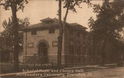 School of Music and Chapin Hall Northwestern University Postcard