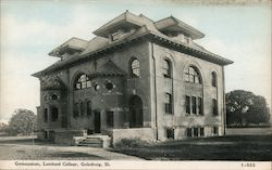 Gymnasium, Lombard College Postcard