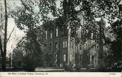 Old Main, Lombard College Postcard