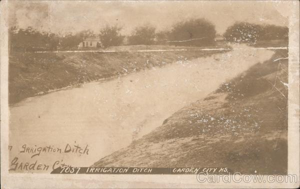 Irrigation Ditch Garden City Kansas