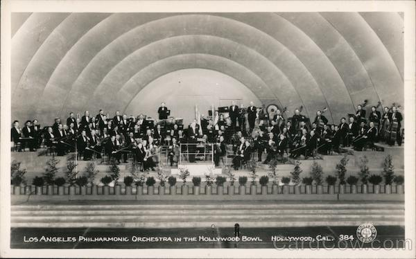 Los Angeles Philharmonic Orchestra in the Hollywood Bowl California