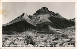 The Chisos Mountains, Big Bend National Park Postcard