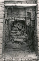 A Chac Indian Doorway, Aztec Ruins National Monument Postcard