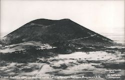 Airview showing road to top of Capulin Mountain National Monument Postcard