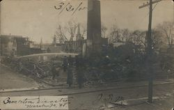 Grover Shoe Factory Disaster - March 20, 1905 - Boiler Explosion Postcard