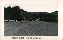 View of U.S. 60, Becker Butte Postcard